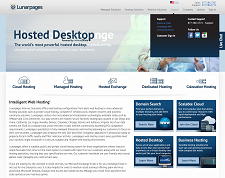 lunarpages website screenshot IXWebHosting